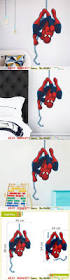 top 25 best spiderman wall decals ideas on pinterest batman hot sale spiderman wall sticker marvel superhero wall decal paper craft kids bedroom decor christmas gifts
