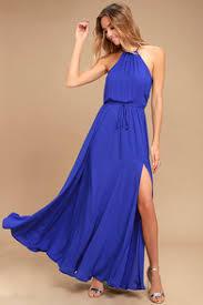 royal blue chic royal blue dress lace up dress backless dress maxi