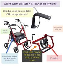 Transport Walker Chair Drive Medical Rollator Review U0026 Buying Guide