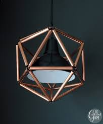 Make Your Own Pendant Light Fixture Copper Pipe Icosahedron Light Fixture
