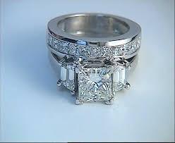 blue wedding rings 2 50ct f si2 princess cut diamond from jewelforme blue
