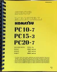komatsu pc10 7 pc15 3 pc20 7 hydraulic excavator service shop