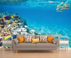 mountain wall print wall mural floral wall mural flowers underwater wall art romantic wallpaper exotic wall mural wall decal reef peel