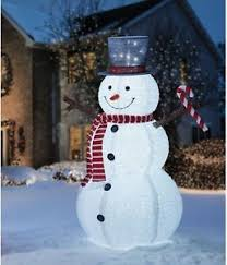 6 ft outdoor yard decoration pop up snowman indoor led