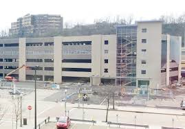 north shore parking garage expected to open in may pittsburgh north shore parking garage on west general robinson drive on the north shore