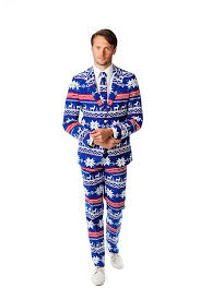 opposuits mens christmas suit and tie by blue