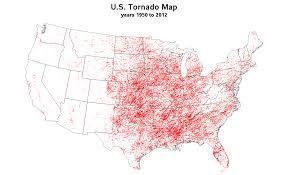 tornado map doug ross journal u s tornado map 1950 to 2012