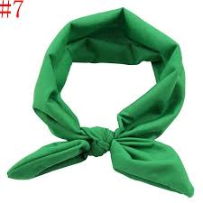 green headband stylish baby headband kids elastic rabbit ear knot hairband