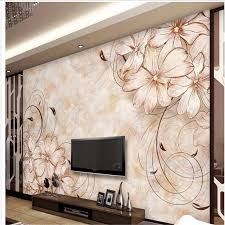 custom 3d wall papers home decor photo background art beach flower