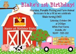farm and jungle themed invitations