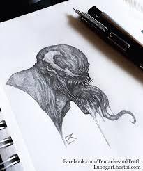 artstation venom pencil sketch richard luong