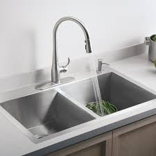 kitchen kohler undermount stainless steel double sink kohler