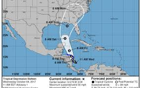 tropical depression forms in caribbean aims for u s bradenton