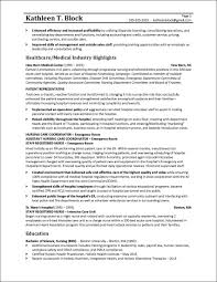 Resume Sample Resume by Management Resume Sample Healthcare Industry