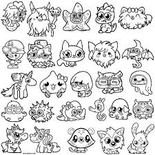 printable moshi monsters coloring pages kids cool2bkids