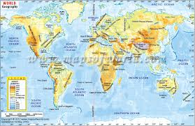 world map mountains rivers deserts geography map