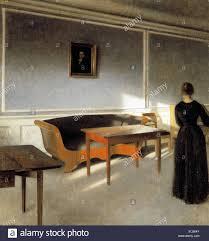 danish living room sunshine in the living room i by danish painter vilhelm hammershoi
