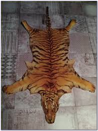 tiger skin rug with head fake rugs home design ideas nnjelr3781