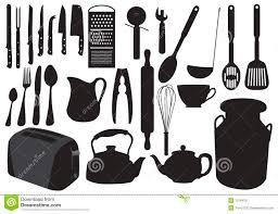 vaisselle de cuisine silhouette de vaisselle de cuisine illustration de vecteur