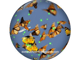 butterfly snow globe just for you