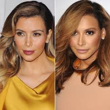 naya rivera looks like kim kardashian popsugar celebrity