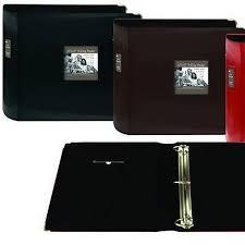 pioneer 3 ring photo albums pioneer 12 x 12 in sewn leatherette 3 ring binder frame scrapbook