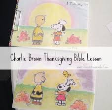 brown thanksgiving bible lesson classic