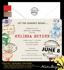 travel themed bridal shower invitations plumegiant