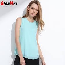 sleeveless ruffle blouse buy garemay shirt summer chiffon tops white sleeveless