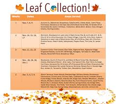 Gloucester Fall 2016 Leaf Collection Schedule Gloucester Townshipgloucester