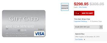gift cards for less dead 10 300 visa gift cards online at staples purchase for