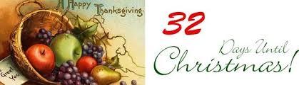 32 days until 3 until thanksgiving