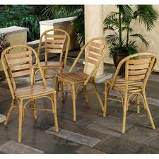 chair eco conscious set of four bamboo dining chairs by palecek