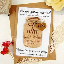 save the date magnet mason jar save the date wood save the
