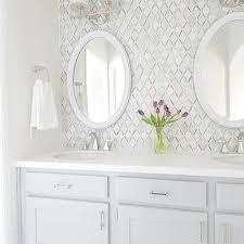 Bathroom Tile Ideas White Carrara by Carrara White Caribbean Green Diamond Marble Mosaic Tile Design Ideas