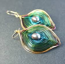 peacock feather earrings s 27 free wire wrap jewelry tutorials artistic wire peacock