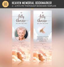 heaven memorial bookmarker template by godserv2 graphicriver