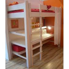 lit surélevé avec bureau lit mezzanine de style avec bureau bambins déco