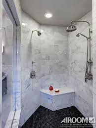 two can share this walk in roman shower with matching marble