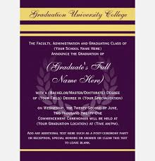 formal college graduation announcements formal graduation invitation