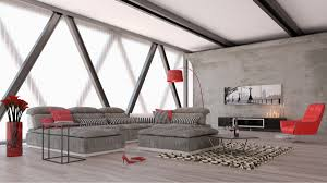 Contemporary White Leather Sectional Sofa by Ferrari Panorama Italian Modern Grey Fabric And White Leather