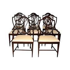 Ideas For Hepplewhite Furniture Design Reproduction Hepplewhite Shield Dining Chairs Set Of 8 Chairish