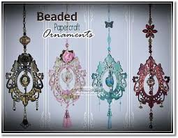 beaded papercraft ornaments