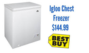 chest freezer black friday deal best buy deal igloo chest freezer 144 99 southern savers