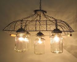 Wire Chandelier Diy 206 Best Mason Jar Lights Images On Pinterest Mason Jar Lighting