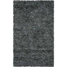 Safavieh Leather Shag Rug Gray Leather Shag Rug Ebay