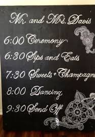 Wedding Program Chalkboard Wedding