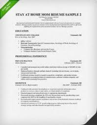 Stay At Home Mom Resume Template Glamorous Stay At Home Mom Resume Examples 1 How To Write A At