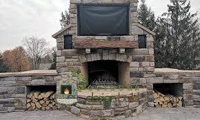 outdoor stone fireplace cincinnati outdoor fireplaces