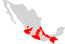 Map Of Mexico by File Map Of Mexico Highlighting Oca Mexican Exarchate Svg